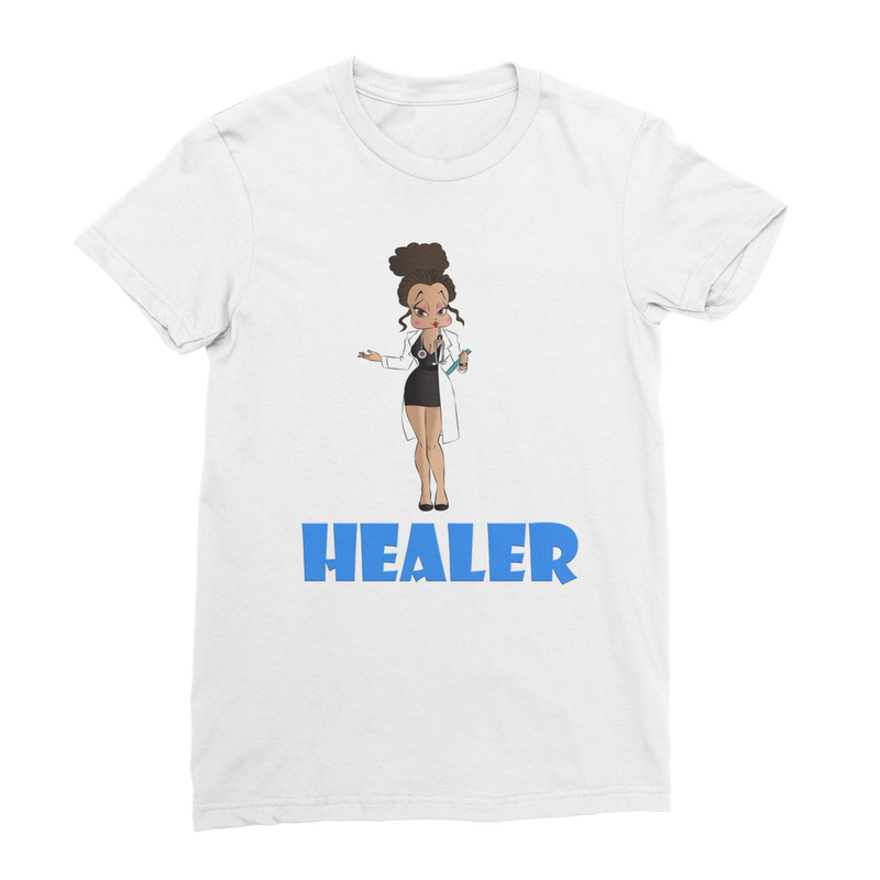Healer Betty Premium Jersey Women's T-Shirt | Black Betty Boop