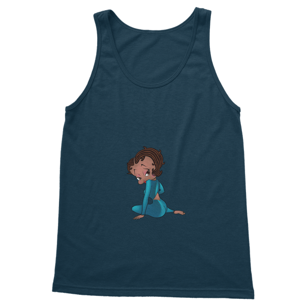 Sitting Betty Medium Classic Adult Vest Top | Black Betty Boop