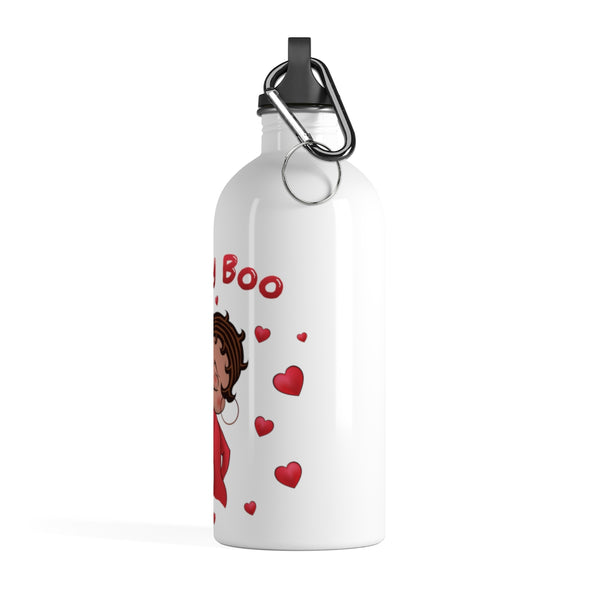 Kissing Betty Stainless Steel Water Bottle | Black Betty Boop