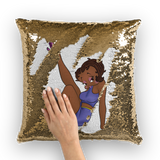 Leg Up Betty Brown Sequin Cushion Cover | Black Betty Boop