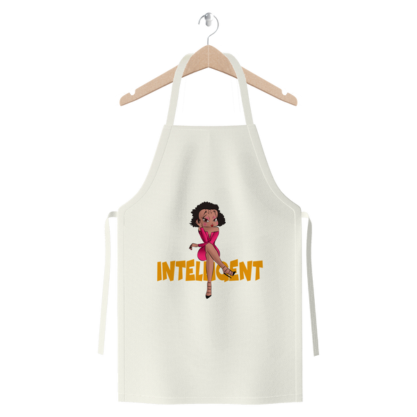 Intelligent Betty Premium Jersey Apron | Black Betty Boop