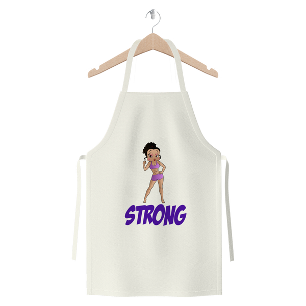 Workout Strong Betty Premium Jersey Apron | Black Betty Boop