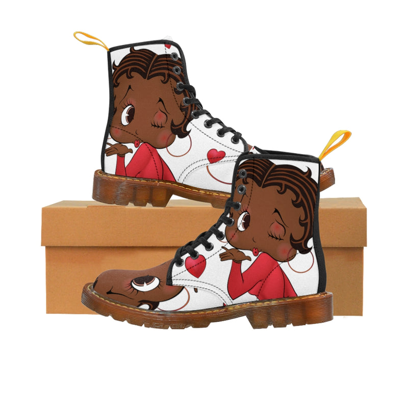 Kissing Betty Brown Women's Martin Boots