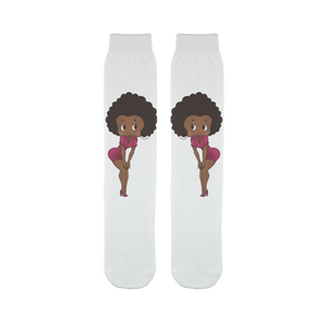 Standing Betty Brown Tube Sock | Black Betty Boop