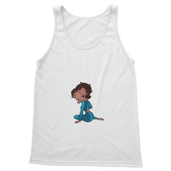 Sitting Betty Medium Classic Women's Tank Top | Black Betty Boop