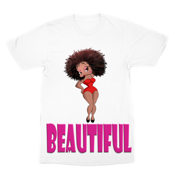 Beautiful Betty Premium Sublimation Adult T-Shirt | Black Betty Boop
