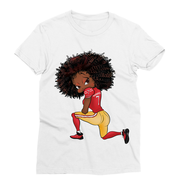 Kneeling Betty Classic Sublimation Women's T-Shirt | Black Betty Boop