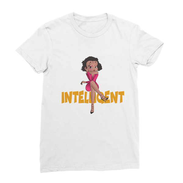 Intelligent Betty Premium Jersey Women's T-Shirt | Black Betty Boop