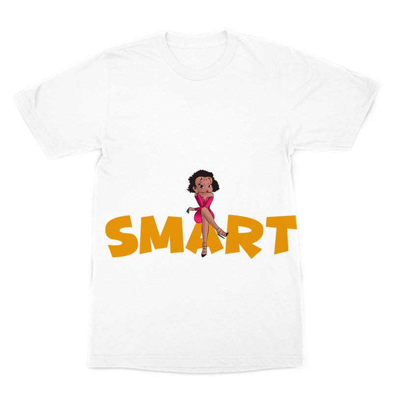 Smart Betty Premium Sublimation Adult T-Shirt | Black Betty Boop