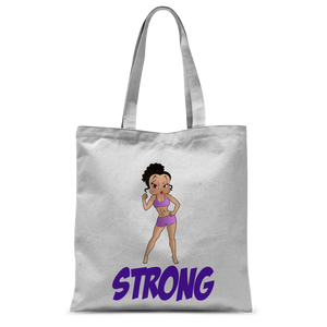 Workout Strong Betty Classic Sublimation Tote Bag | Black Betty Boop