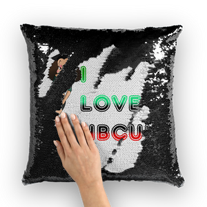 College Betty HBCU Sequin Cushion Cover | Black Betty Boop