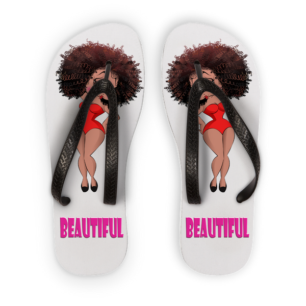 Beautiful Betty Flip Flops | Black Betty Boop