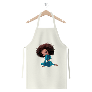 Sitting Betty Light Premium Jersey Apron | Black Betty Boop