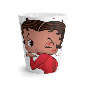 Kissing Betty Latte mug
