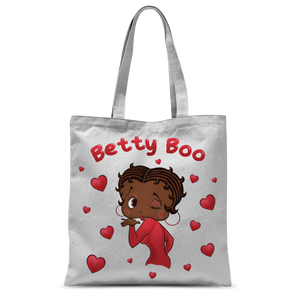 Kisses Betty Brown Classic Sublimation Tote Bag | Black Betty Boop