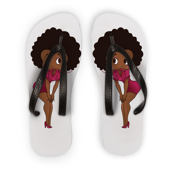Standing Betty Brown Flip Flops | Black Betty Boop