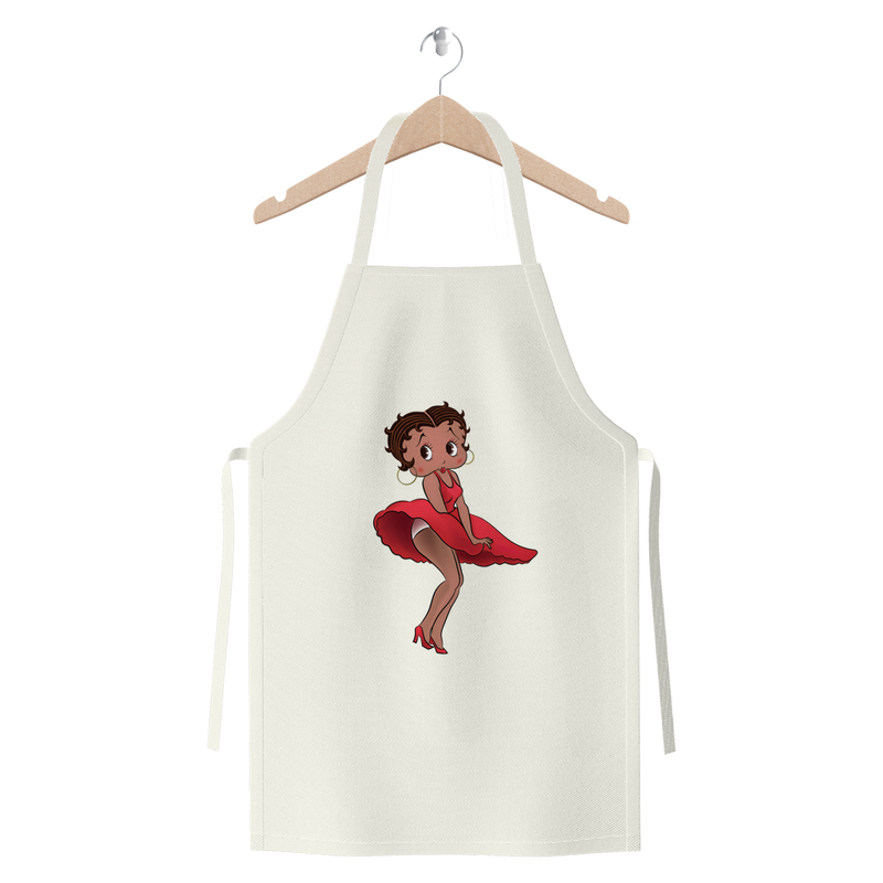 Red Dress Betty Medium Premium Jersey Apron | Black Betty Boop