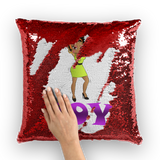 Dancing Joy Betty Sequin Cushion Cover | Black Betty Boop