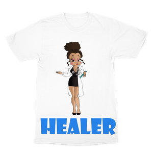 Healer Betty Premium Sublimation Adult T-Shirt | Black Betty Boop