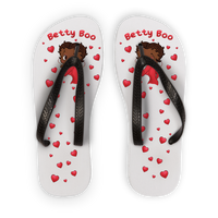 Kisses Betty Brown Adult Flip Flops