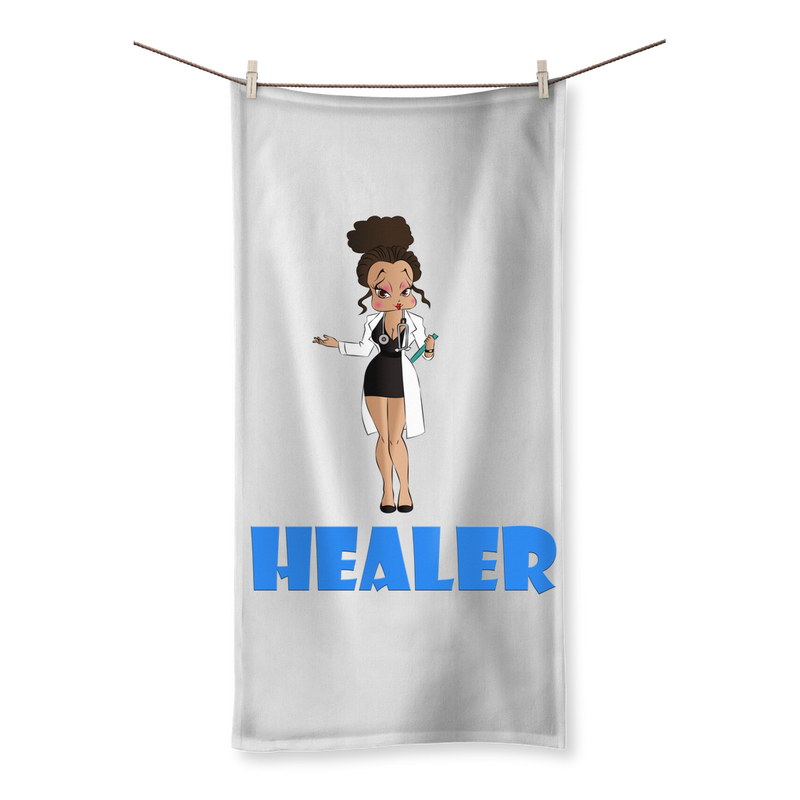 Healer Betty Sublimation All Over Towel | Black Betty Boop