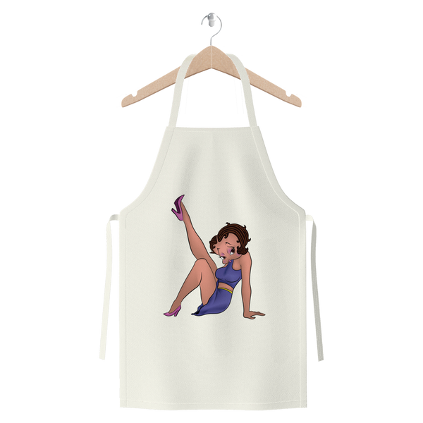 Leg Up Betty Light Premium Jersey Apron | Black Betty Boop