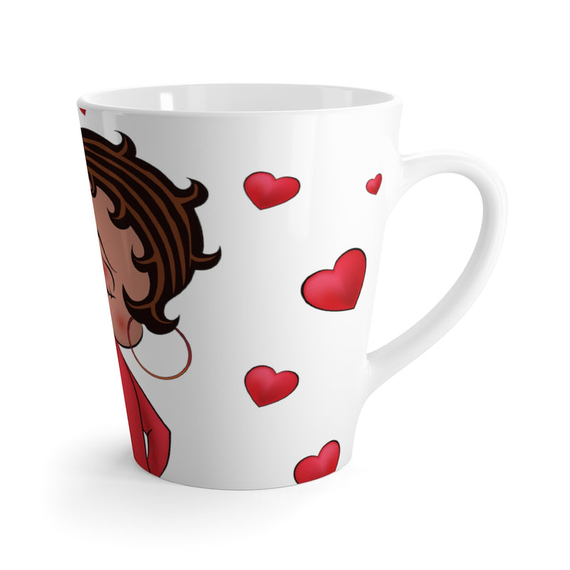 Kissing Betty Latte mug | Black Betty Boop