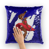 Red Dress Betty Brown Sequin Cushion Cover | Black Betty Boop