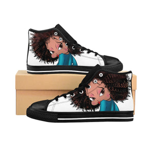 Sitting Betty Women's High-top Sneakers | Black Betty Boop