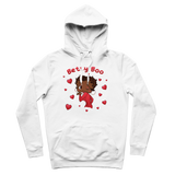 Kisses Betty Brown Premium Adult Hoodie | Black Betty Boop