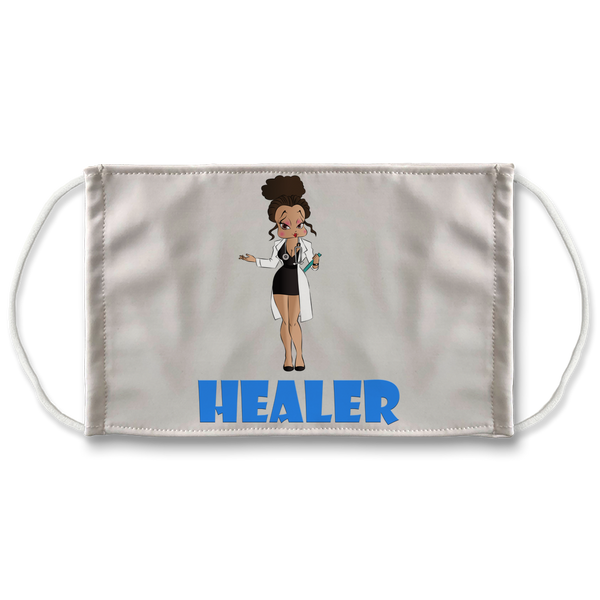 Healer Betty Sublimation Face Mask | Black Betty Boop