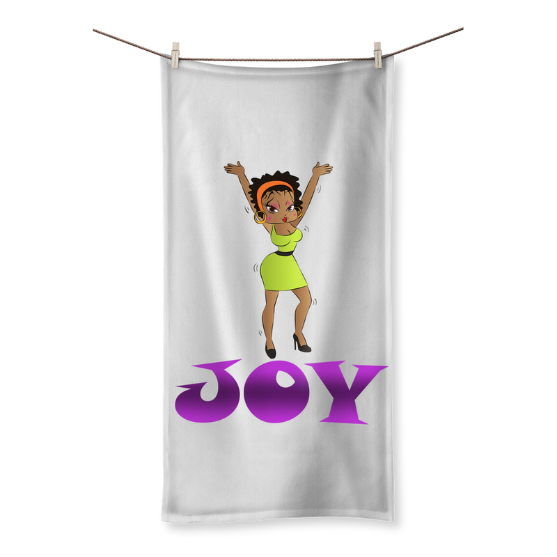 Dancing Joy Betty Sublimation All Over Towel | Black Betty Boop