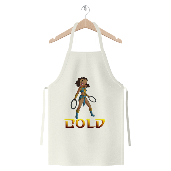 Superhero Betty Bold Premium Jersey Apron | Black Betty Boop