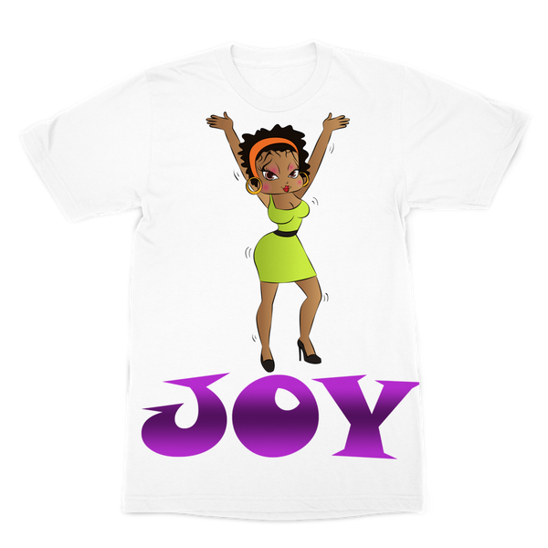 Dancing Joy Betty Premium Sublimation Adult T-Shirt | Black Betty Boop