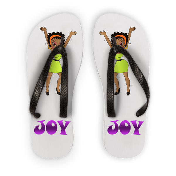 Dancing Joy Betty Flip Flops | Black Betty Boop