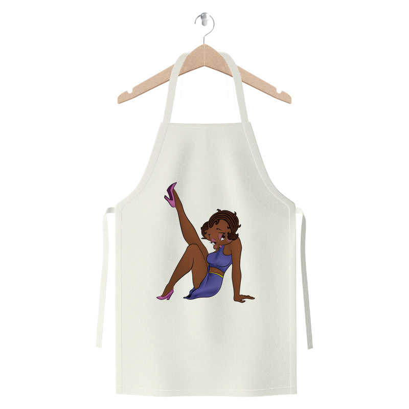 Leg Up Betty Brown Premium Jersey Apron | Black Betty Boop