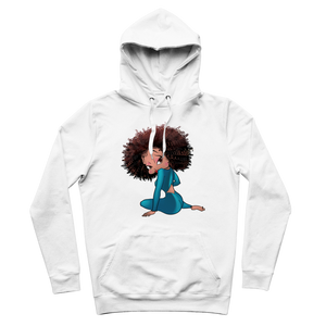 Sitting Betty Light Premium Adult Hoodie | Black Betty Boop