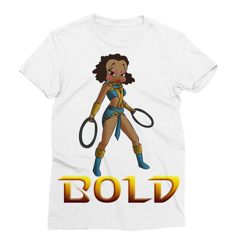 Superhero Betty Bold Classic Sublimation Women's T-Shirt | Black Betty Boop