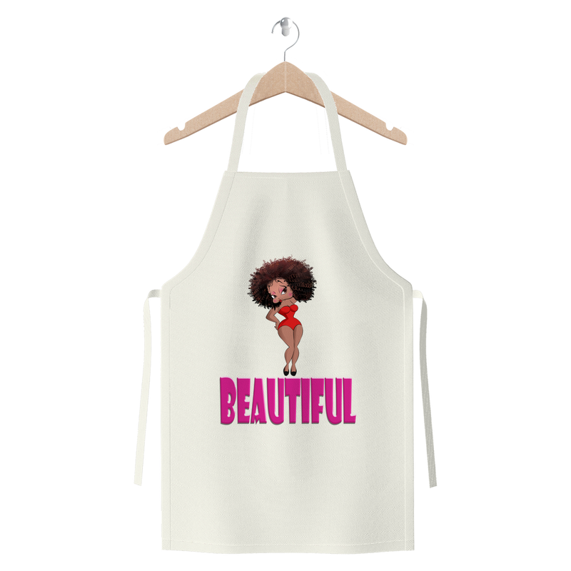 Beautiful Betty Premium Jersey Apron | Black Betty Boop