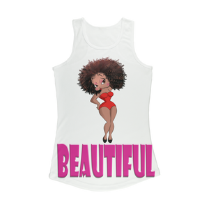 Beautiful Betty Women Performance Tank Top | Black Betty Boop