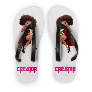 Professional Betty Adult Flip Flops | Black Betty Boop