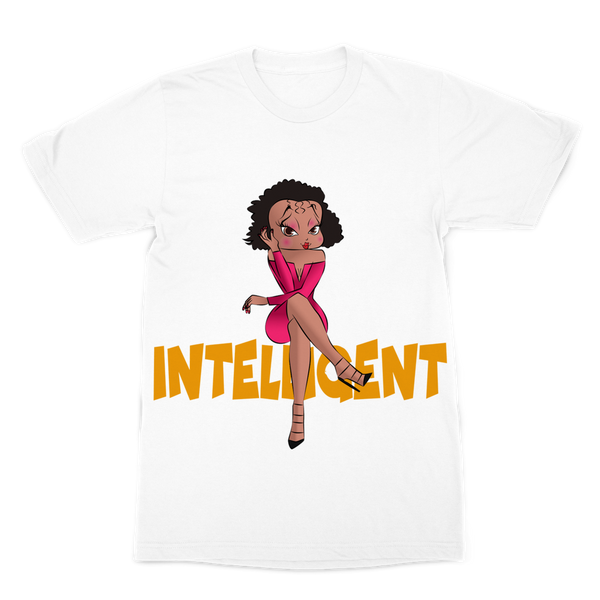 Intelligent Betty Premium Sublimation Adult T-Shirt | Black Betty Boop