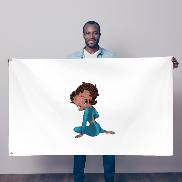 Sitting Betty Medium Sublimation Flag | Black Betty Boop