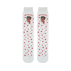 Kisses Betty Brown Sublimation Tube Sock | Black Betty Boop