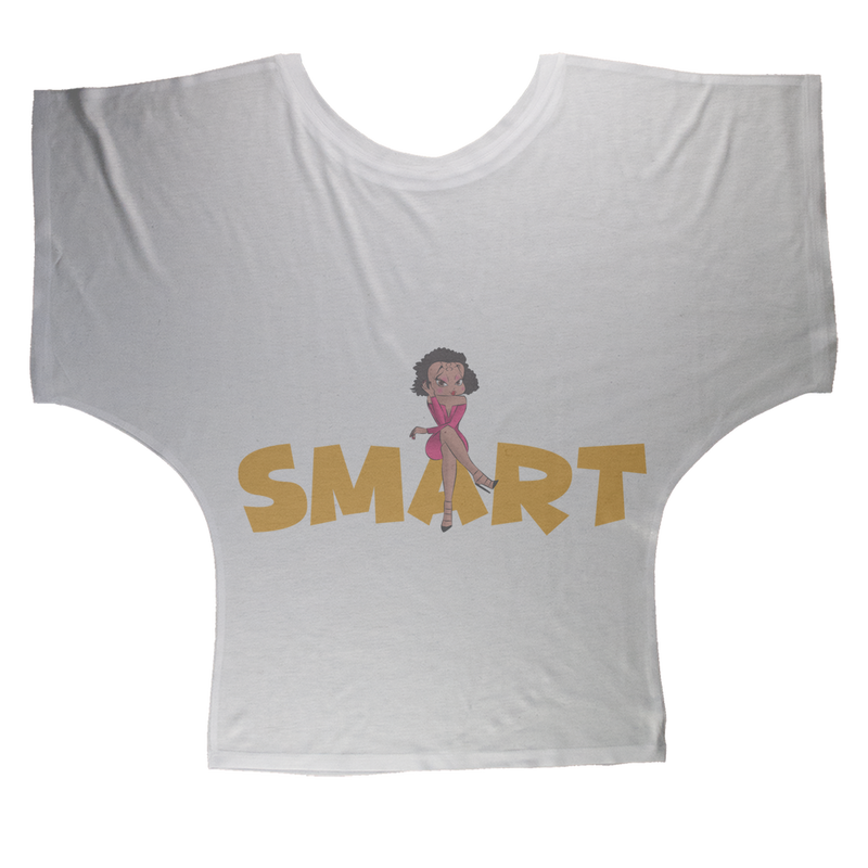 Smart Betty Sublimation Batwing Top | Black Betty Boop