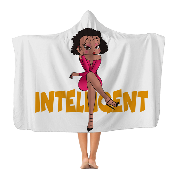 Intelligent Betty Premium Adult Hooded Blanket | Black Betty Boop