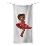 Red Dress Betty Brown Sublimation All Over Towel | Black Betty Boop