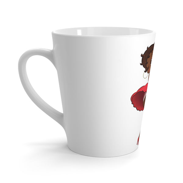Red Dress Betty Latte mug | Black Betty Boop