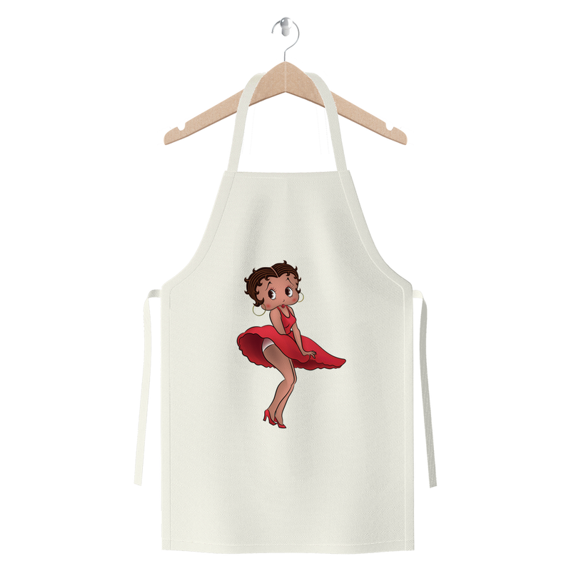 Red Dress Betty Light Premium Jersey Apron | Black Betty Boop