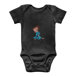 Sitting Betty Medium Classic Baby Onesie Bodysuit | Black Betty Boop